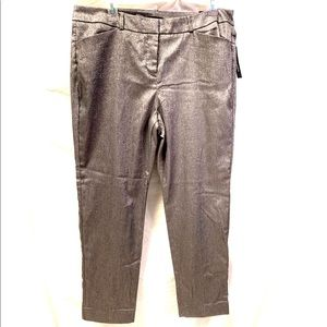 Silver Metallic Crop Pants Size 10